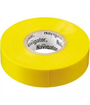 Изолента ПВХ 15мм*20м желтая // Navigator