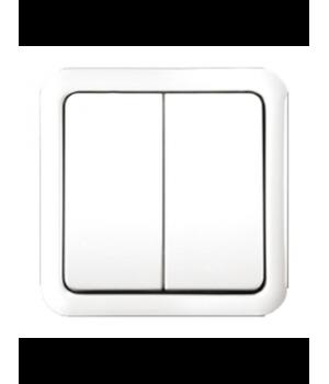 Выключатель 2-кл. GUSI ELECTRIC CП (белый)
